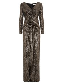 Lorcan Mullany Golden Sequin Gown