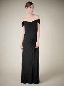 Lorcan Mullany Black Waterfall Gown