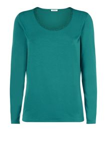 Teal Embellished Top