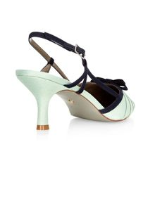 Pleat Bow Sling Back Shoe