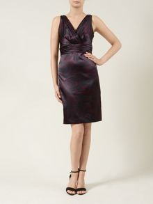 Plum Satin Dress