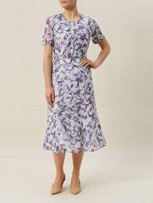 Monet Print Fit & Flare Skirt
