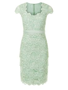 Petite Lace Layered Dress