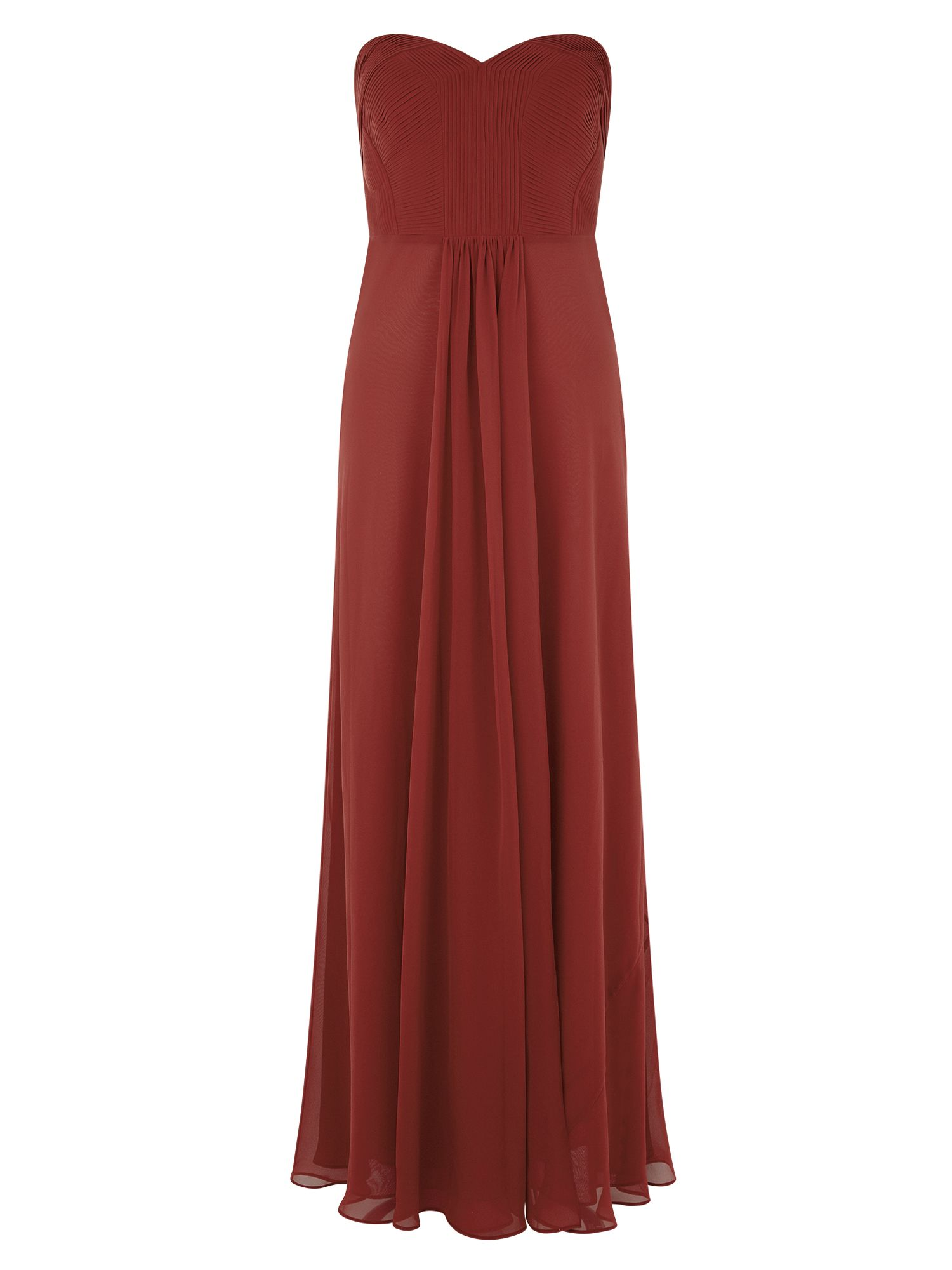 Kaliko Red Pleated Maxi, Red