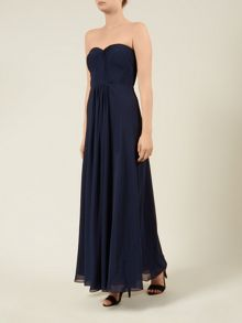 Navy Pleated Maxi