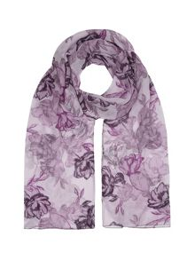 Etched Rose Print Scarf