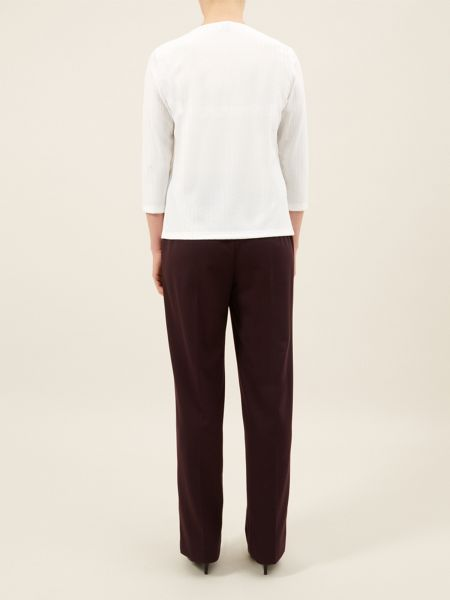 Eastex Ivory Square Neck Top