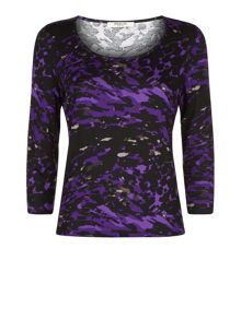 Abstract Jersey Top