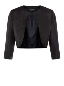 Cropped Collarless Jacket