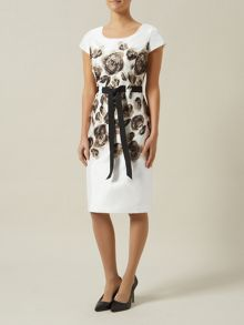 Placement Print Shift Dress