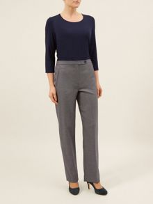 Navy And Stone Trousers