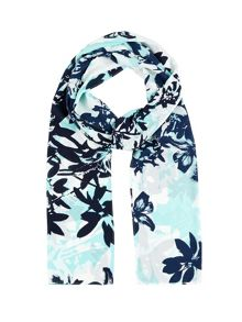 Block Lily Print Scarf
