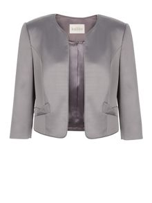 Bow Pocket Satin Jacket