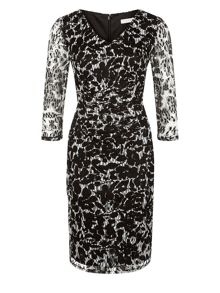 Planet Black And White Lace Dress