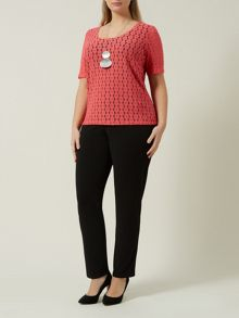 Lace Coral Jersey Top