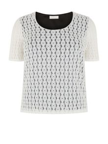 Lace Ivory Jersey Top