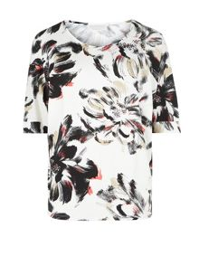 Large Floral Jersey Top
