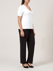 Black Jersey Wide Leg Trouser