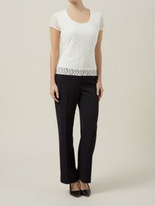Ivory Floral Lace Top