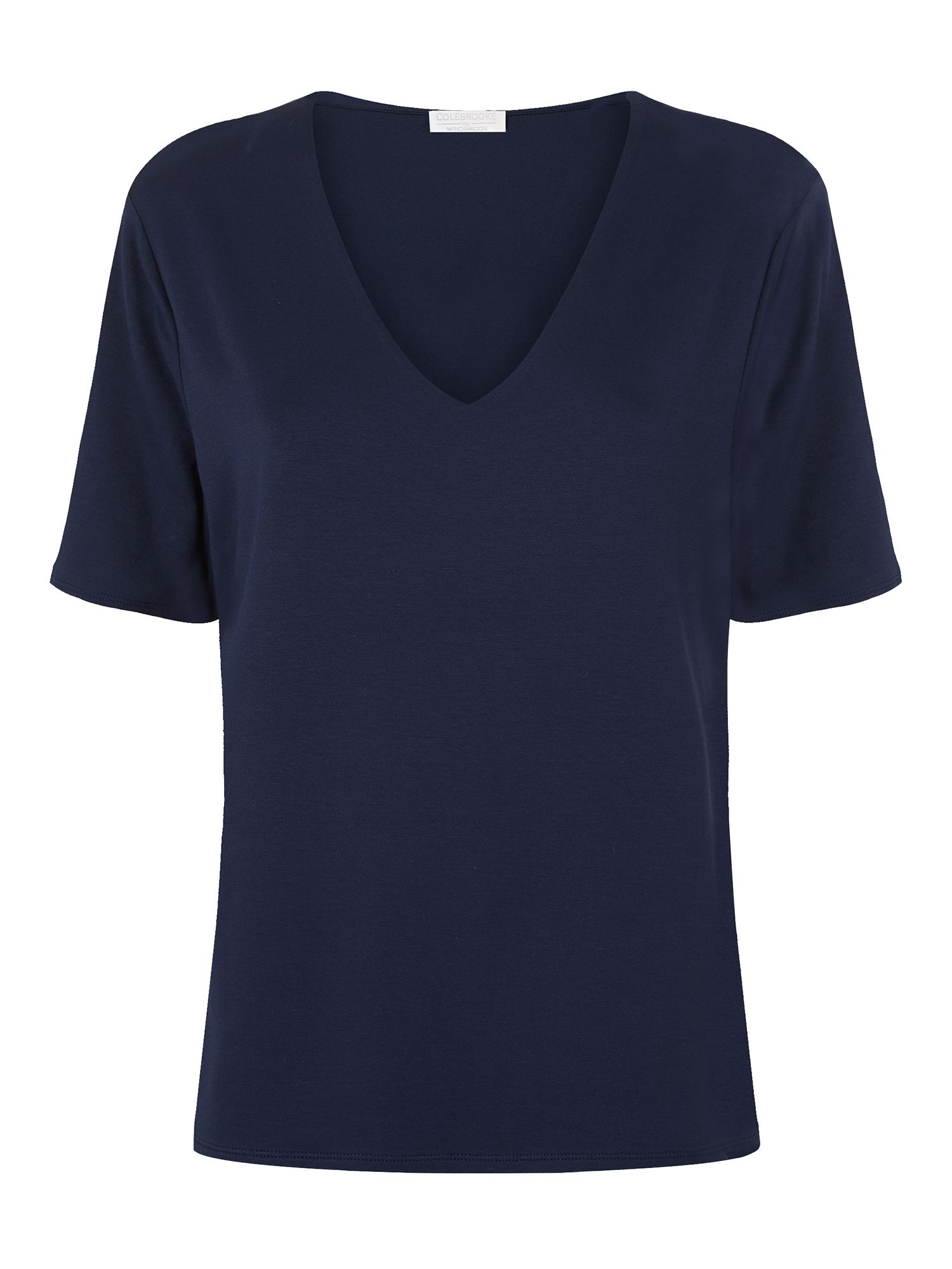 Windsmoor Navy V Neck Basic 3/4 Sleeve, Navy