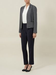 Stripe Ponte Jacket