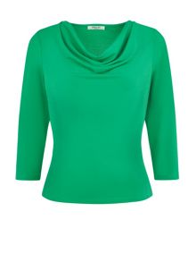 Crepe Jersey Cowl Neck