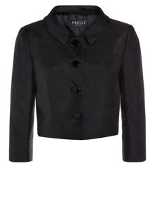 Shantung Cropped Jacket