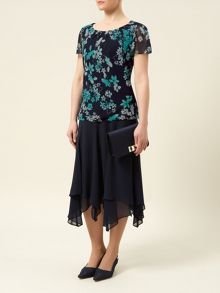 Butterfly Floral Belted Top