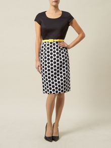 Spotty Belted Dress