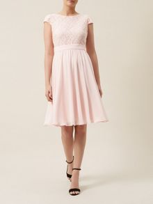 Floral Lace And Chiffon Dress