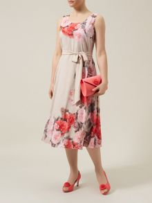 Flower And Spot Prom Dress