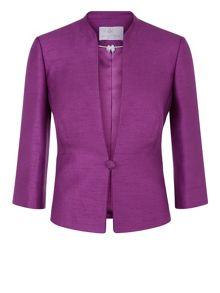 Petite Piped One Button Jacket