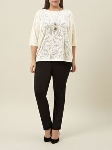 Plus Size Ivory Pointelle Jumper