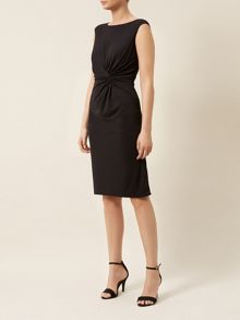 Waist Pleat Detail Jersey Dress