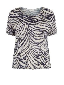 Plus Size Animal Abstract Print Blouse