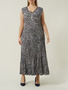 Plus Size Animal Abstract Print Dress