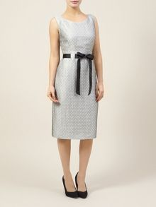 Spot Belted Shift Dress
