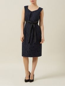 Lace A Line Belted Dress