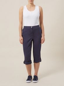 Navy Roll Up Trousers Petite