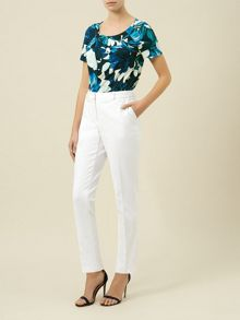 Ivory Cropped Trouser