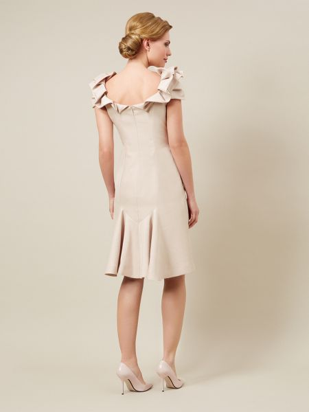 Jacques Vert Shift Dress With Neck Detail