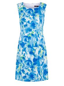 Aqua Cotton Sat-shirtn Dress