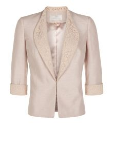 Lace Collar Tailored Jacket