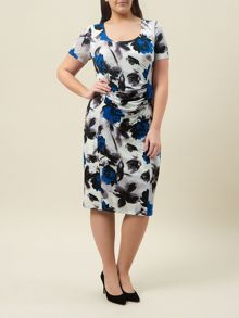 Windsmoor Royal Blue Printed Dress
