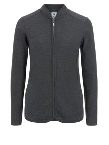 Grey interlock jacket