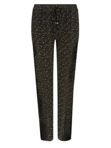 Plus Size Printed Jersey Trouser