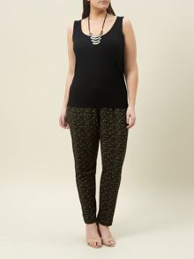 Windsmoor Plus Size Printed Jersey Trouser