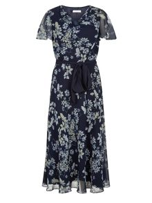 Butterfly Floral Prom Dress