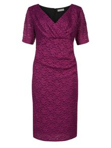 Plus Size Magenta Lace Dress