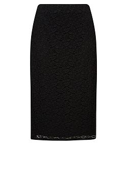 Windsmoor Plus Size Black Lace Skirt
